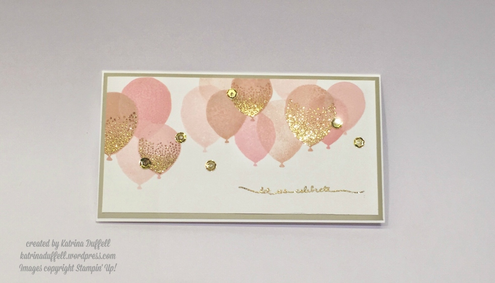 Stampin' Up! card using Balloon Celebration stamp set