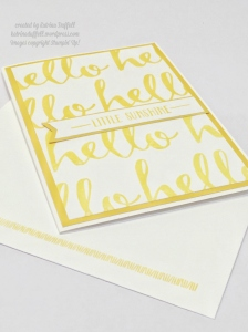 Hello card using Stamin' Up! SAB hello stamp set