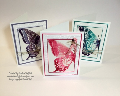 Watercolour Trio Swallowtail Stamp