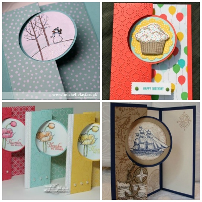 Examples of Stampin' Up! Circle Card Thinlits Dies