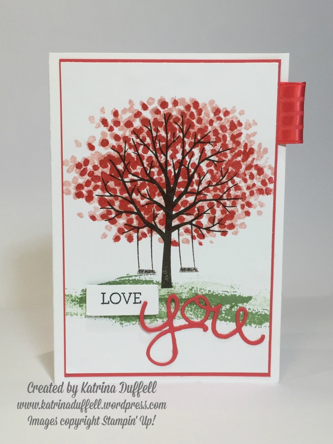 Stampin' Up! Sheltering Tree Love You card