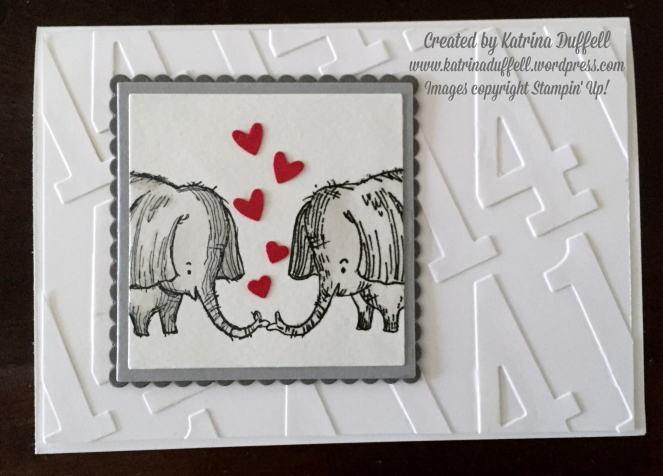 Gift Ideas For 14th Wedding Anniversary: Elephant Anniversary Card